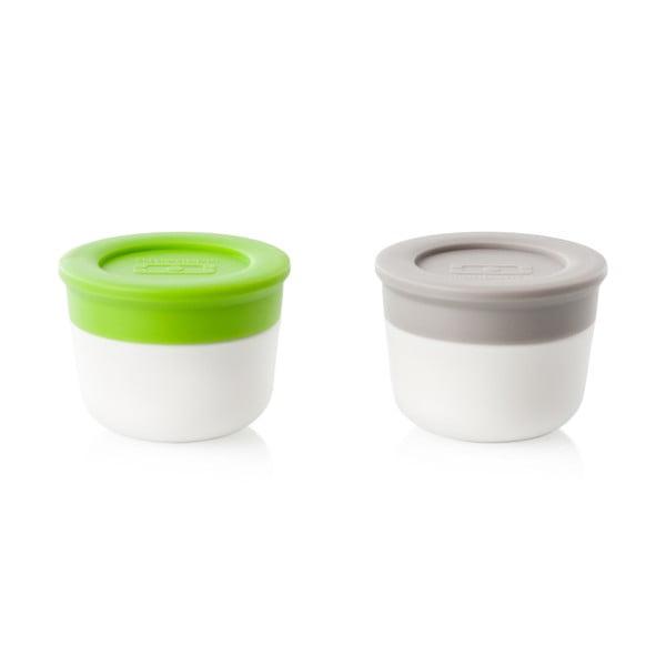 Zestaw zielonej i szarej miseczki na sos Monbento