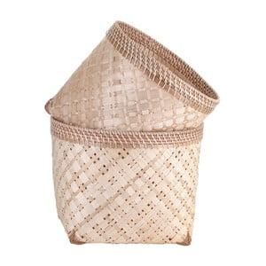 Zestaw 2 bambusowych koszyków A Simple Mess Anaya