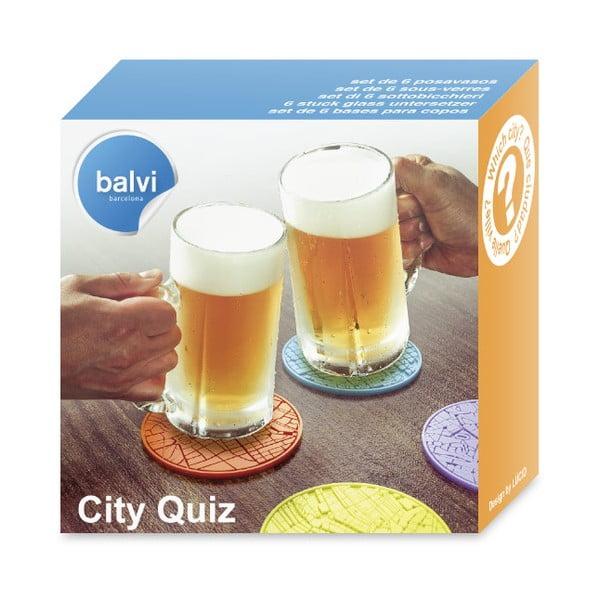 Zestaw 6   szt. Podstawek Balvi City Quiz