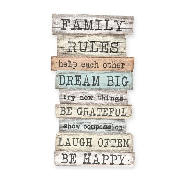 Tablica ścienna Really Nice Things Family Rules