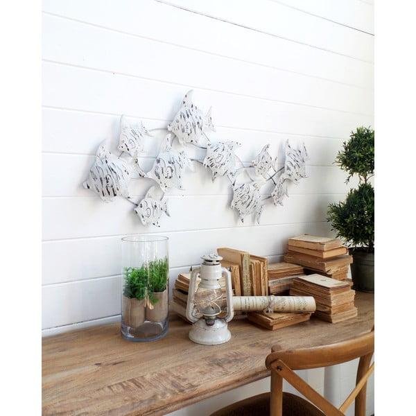 Dekoracja naścienna Fish Pannel White Antique