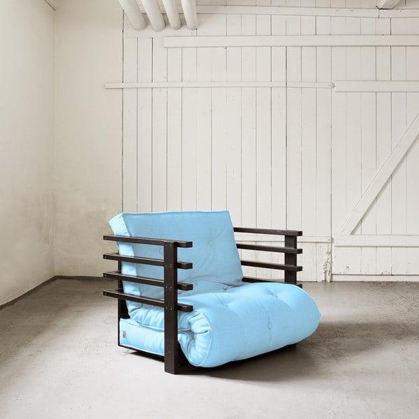 Fotel rozkładany Karup Funk Black/Celeste