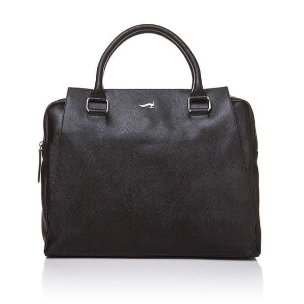 Skórzana torebka do ręki Marta Ponti Sandy, czarna
