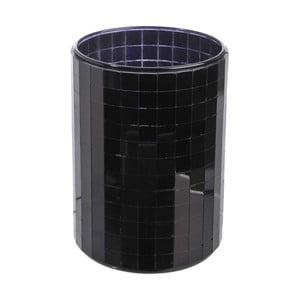 Świecznik Mirror Black, 9,3x12,5 cm