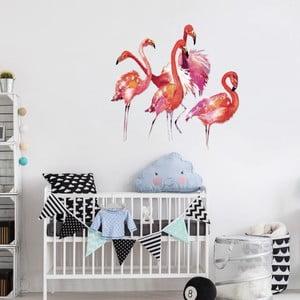 Naklejka Ambiance Flamingos s 20 dekorativními krystaly
