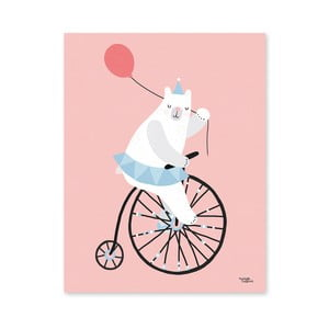 Plakat Michelle Carlslund Cycling Bear, 30x40 cm