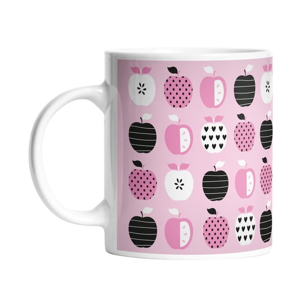 Kubek ceramiczny Pinky Apple, 330 ml