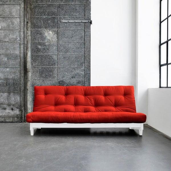 Sofa rozkładana Karup Fresh White/Red