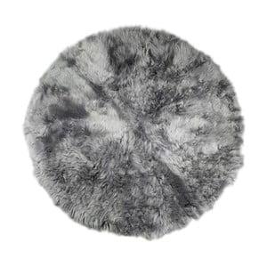 Szary dywan futrzany Rundo, ⌀ 150cm