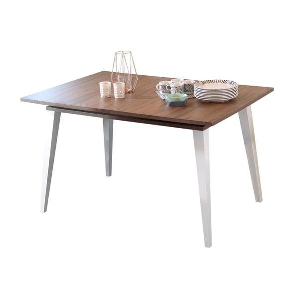 Ciemnobrązowy stół rozkładany TemaHome Prism