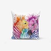 Poszewka na poduszkę z domieszką bawełny Minimalist Cushion Covers Colorful Zebras Oleas, 45x45 cm