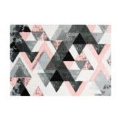 Szaro-różowa wycieraczka Mint Rugs StateMat Triangle, 50x70 cm
