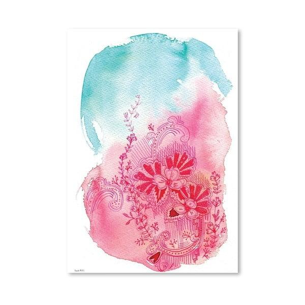 Plakat Flowers Pink, 30x42 cm