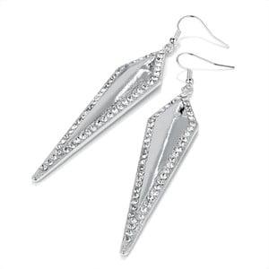 Kolczyki Crystal Silver Triangle