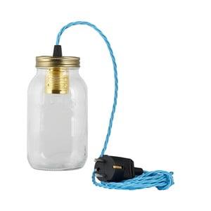 Lampa JamJar Lights, niebieski skręcony kabel
