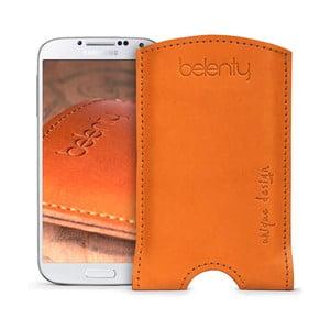 Skórzane etui na Samsung Galaxy S4 Cognac