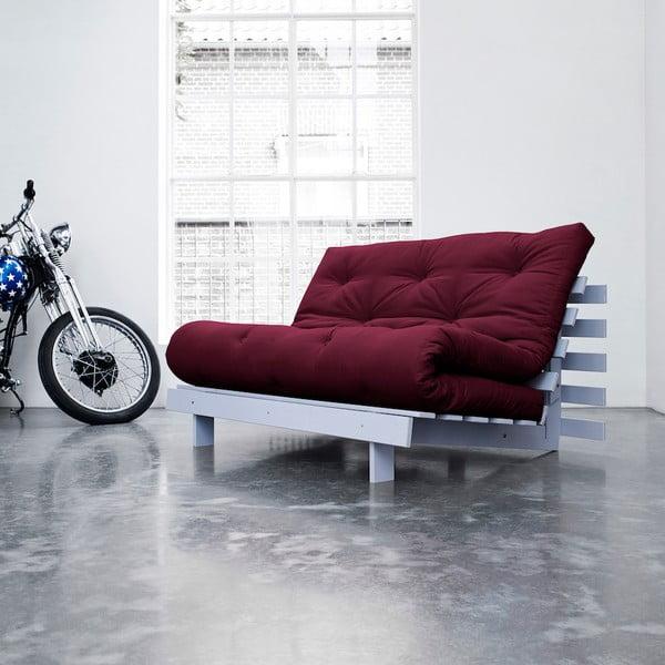 Sofa rozkładana Karup Roots Cool Gray/Bordeaux