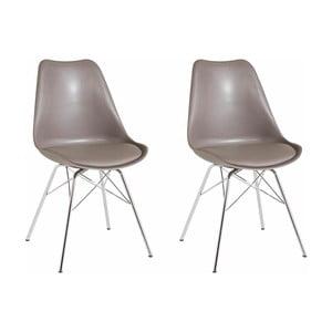 Zestaw 2 szarobeżowych krzeseł Støraa Jenny