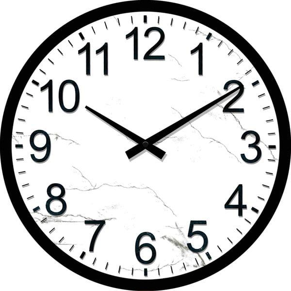Szklany zegar Dworzec, 30 cm