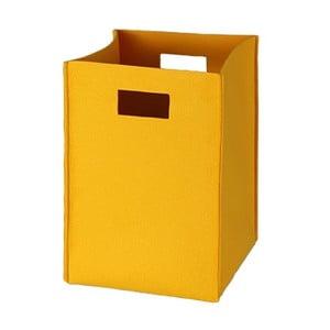Filcowe pudełko 36x25 cm, żółte