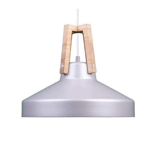 Srebrna lampa wisząca Loft You Work, 33 cm