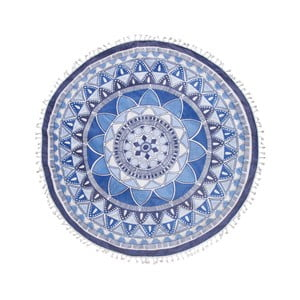 Niebieski ręcznik Seahorse Mandala, 150 cm