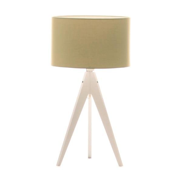 Zielona lampa stołowa Artist, biała lakierowana brzoza, Ø 33 cm