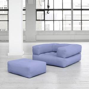 Fotel rozkładany Karup Cube Blue Breeze
