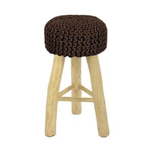 Brązowe krzesło barowe HF Living Nature