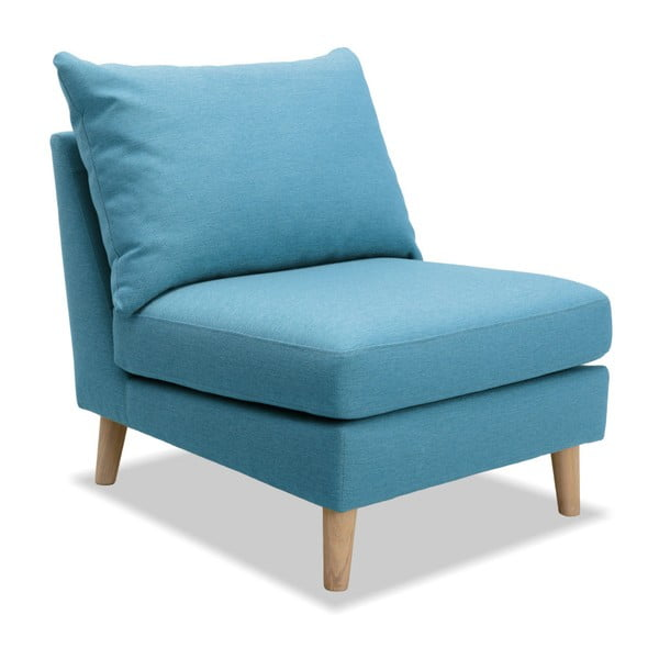 Turkusowy fotel Vivonita Liam