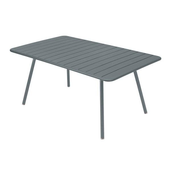 Ciemnoszary stół metalowy Fermob Luxembourg