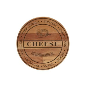 Bukowa deska do krojenia Bisetti Broad Cheese, 30 cm