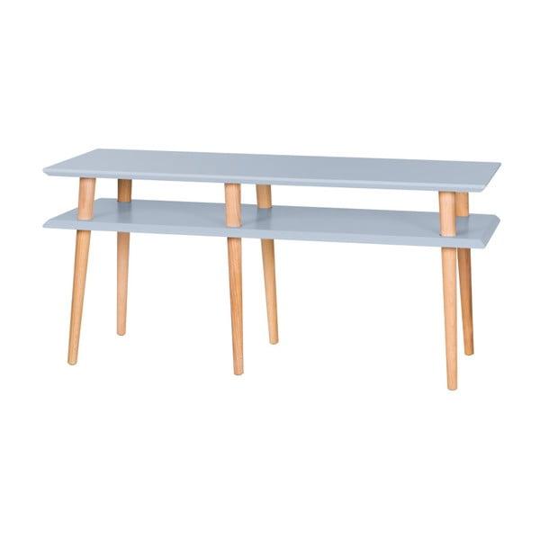 Jasnoszary stolik Ragaba Mugo, dł. 119 cm