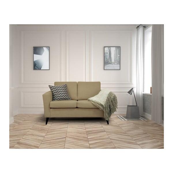Ciemnobeżowa sofa 2-osobowa z czarnymi nogami Helga Interiors Alex