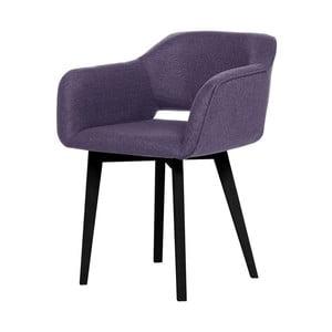 Fioletowe krzesło z czarnymi nogami My Pop Design Oldenburg