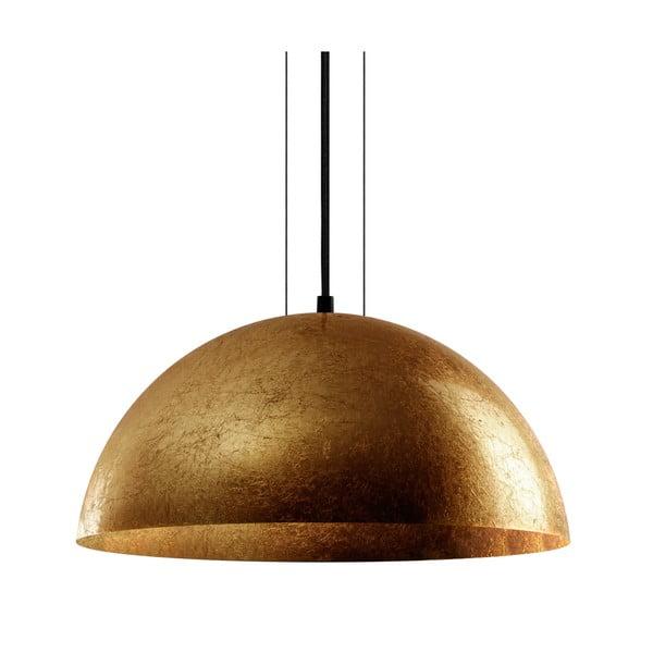 Lampa wisząca w złotym kolorze Bulb Attack Cuatro, średnica 40 cm