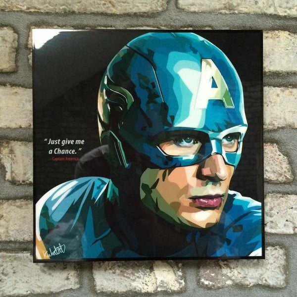 """Obraz """"Captain America - Just give me a chance"""""""