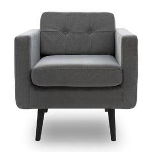 Jasnoszary fotel VIVONITA Sondero, czarne nogi