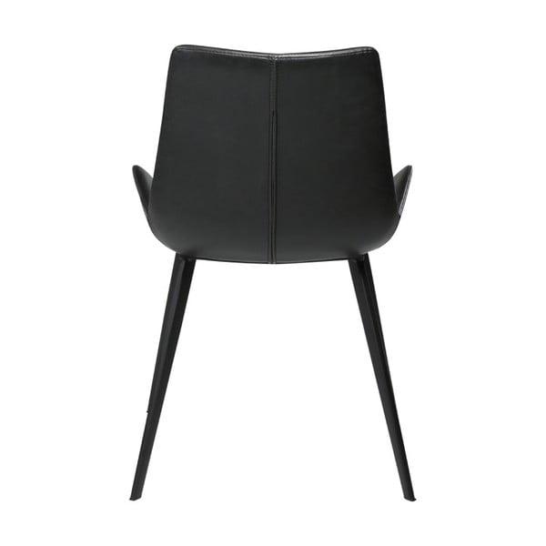 Czarne krzesło ze skóry ekologicznej DAN-FORM Denmark Hype