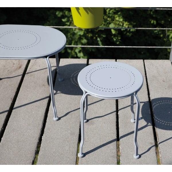 Szary stolik na balkon Esschert Design Nature, 31 cm