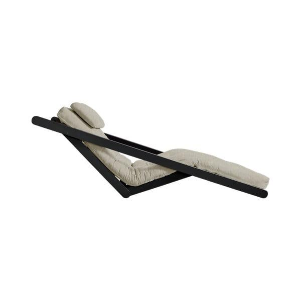 Szezlong rozkładany z lnianym pokryciem Karup Design Figo Black/Linen