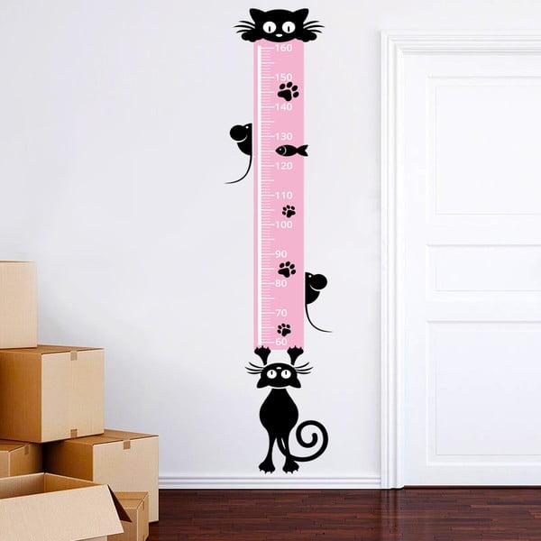 Naklejka ścienna Centymetr z kotami, 160 cm