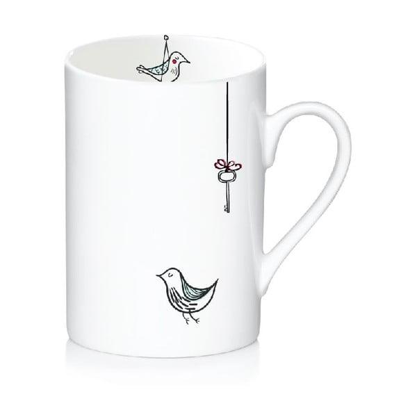 Porcelanowy kubek Bird, 300 ml