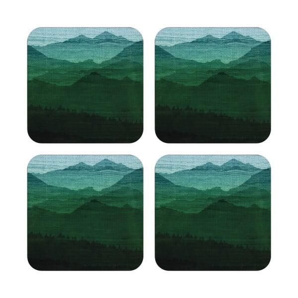 Komplet 4 podstawek pod kubek Mountain