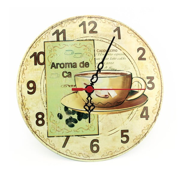 Zegar ścienny Aroma de Ca, 30 cm
