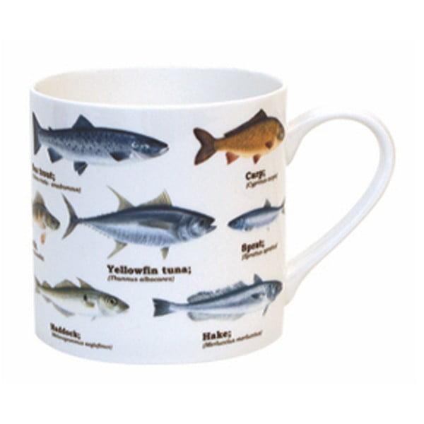 Niebieski kubek ceramiczny Gift Republic Multi Fish