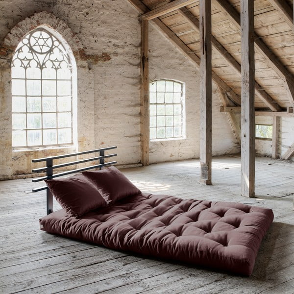 Sofa rozkładana Karup Shin Sano Black/Brown