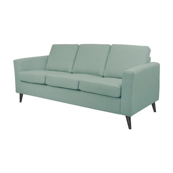 Niebieskoszara sofa 3-osobowa z czarnymi nogami Helga Interiors Alex
