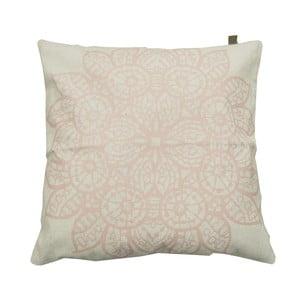 Poduszka Overseas Lace White/Blush, 45x45 cm
