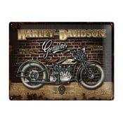 Blaszana tablica Harley Davidson Genuine, 30x40 cm